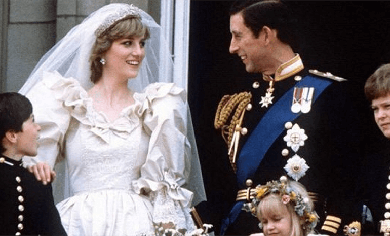 Prince Charles & Lady Diana on their wedding