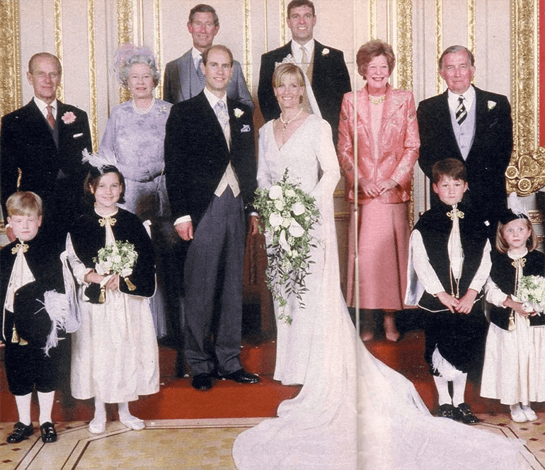 Prince Edward and Sophie wedding attendants