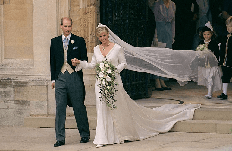 Prince Edward and Sophie at their wedding