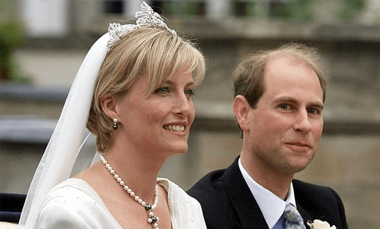 Prince Edward & Sophie on their wedding
