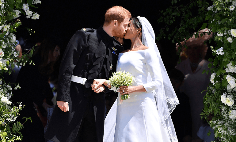 Prince Harry & Meghan on their wedding