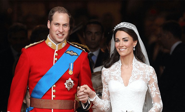 Kate & Prince William on their wedding